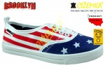 NAZO BROOKLYN TRAMPKI NISKIE 1311 FLAGA USA 31 - 40